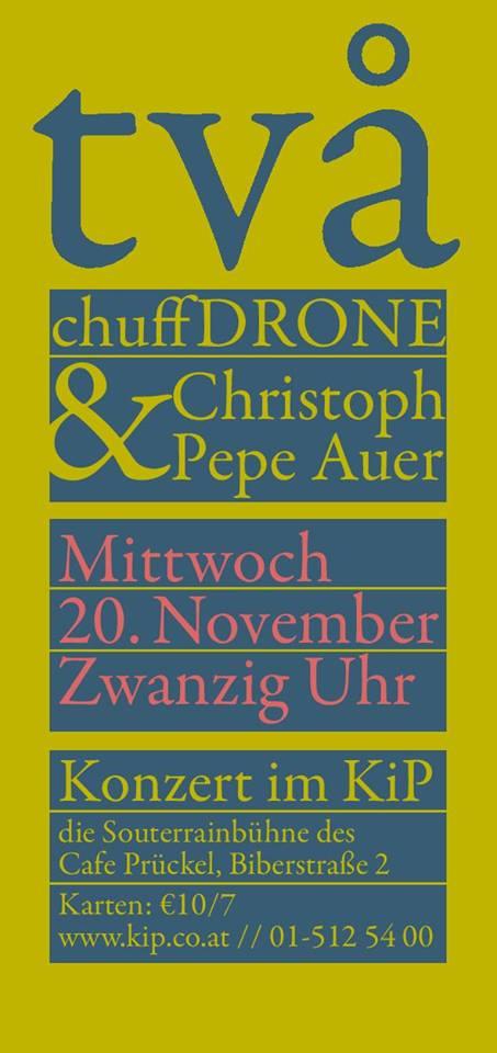 Doppelkonzert mit Christoph 'Pepe' Auer im Cafe Prückel am 20.11. um 20:00